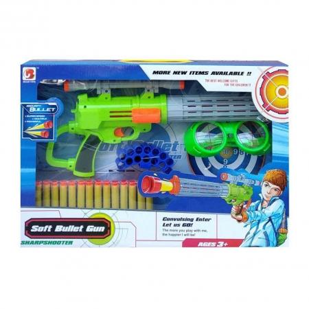 Pusca  Soft Bullet Gun cu gloante din spuma, multicolor [5]