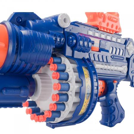 Pusca automata Blaster Sharp-Shooter, gloante cu ventuze din spuma, multicolor [3]