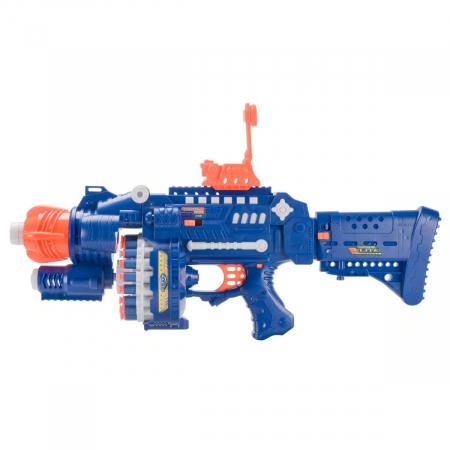 Pusca automata Blaster Sharp-Shooter, gloante cu ventuze din spuma, multicolor [2]