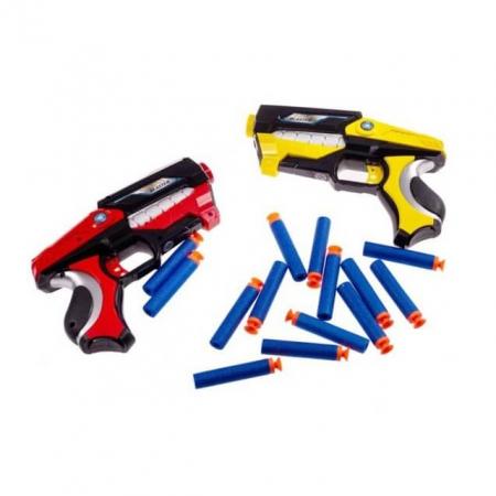 Set 2 Pistoale Space Blaster, gloante cu ventuze din spuma, multicolor [1]