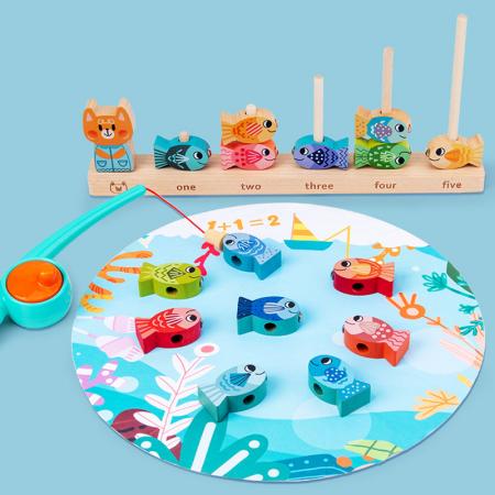 Joc educativ de Pescuit magnetic, Kitten Fishing, multicolor [0]