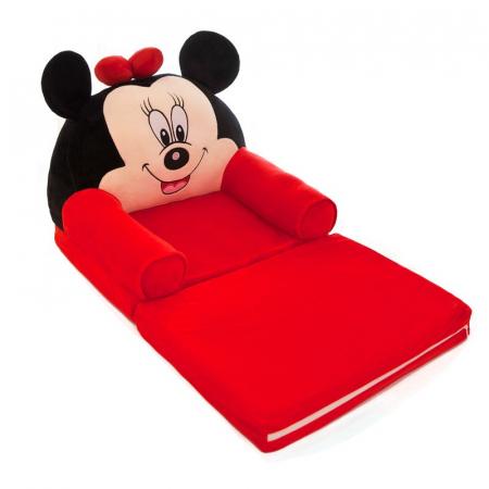 Fotoliu extensibil din plus Minnie Mouse, 80x50 cm [1]