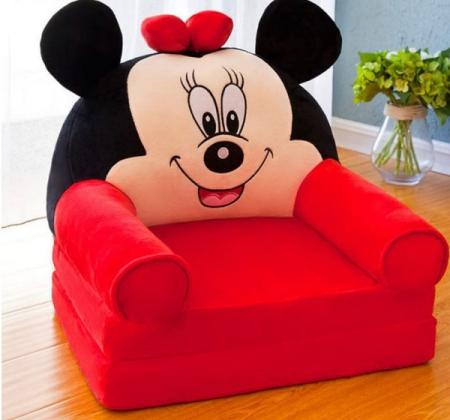 Fotoliu extensibil din plus Minnie Mouse, 80x50 cm [0]