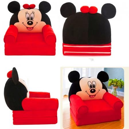 Fotoliu extensibil din plus Minnie Mouse, 80x50 cm [3]