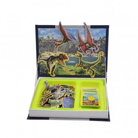 Carte mangetica Dinosaur Spell, Lumea Dinozaurilor, 57 piese [0]