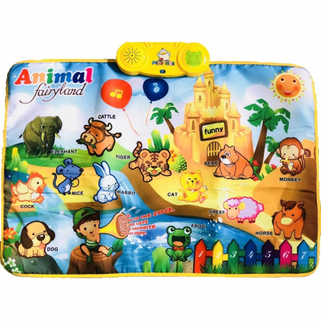 "Covoras muzical interactiv ""Fairyland Animals"",  lumini si sunete, multicolor [0]"