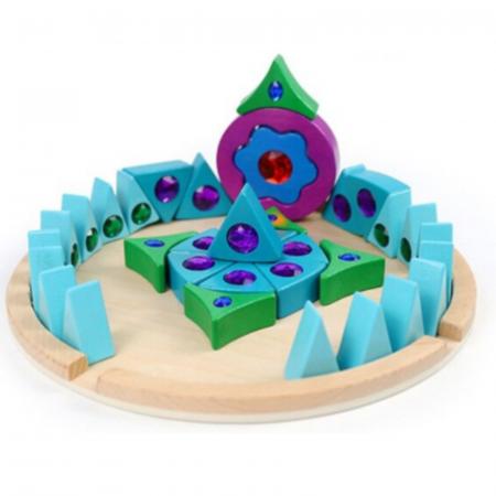 Joc Puzzle Creativ din lemn Mandala, multicolor [5]