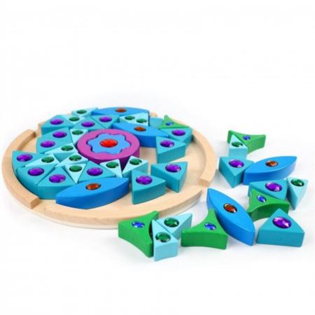 Joc Puzzle Creativ din lemn Mandala, multicolor [2]