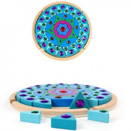 Joc Puzzle Creativ din lemn Mandala, multicolor [1]