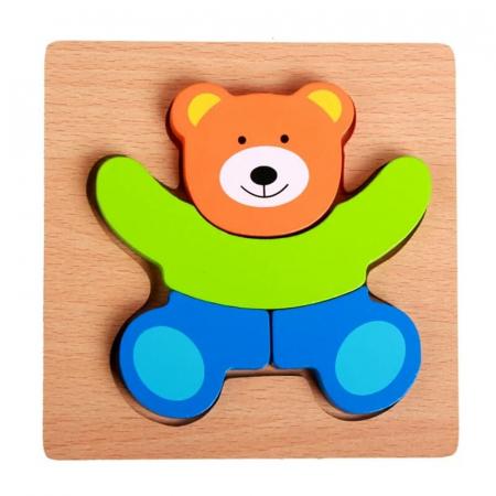 Puzzle lemn 3D [2]