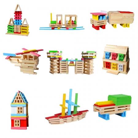 Constructie creativa 150 de cuburi din lemn [4]