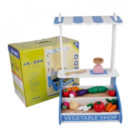 Stand jucarie Legume din lemn de feliat Vegetable Shop [0]