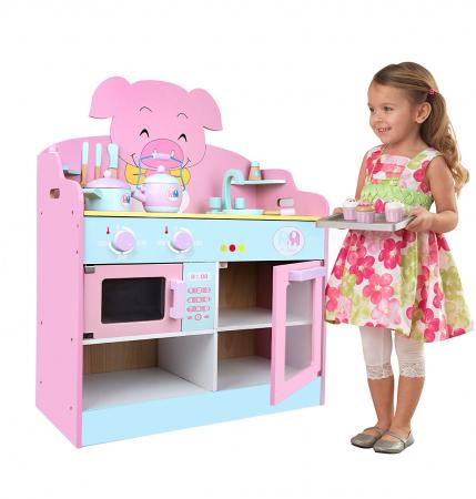 Bucatarie lemn copii,Porcusorul vesel ,Toyska [0]