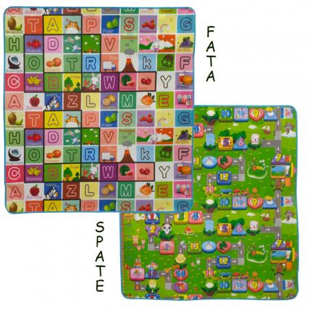 Covoras de joaca termoizolant cu doua fete 180 x 200 cm x 0.8, multicolor [1]