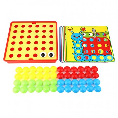 Joc creativ mozaic Genius Art, 24 cartonase, 50 de butoni, Toyska [2]