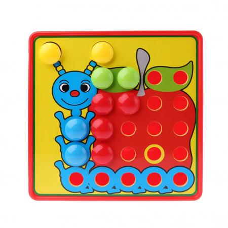 Joc creativ mozaic Genius Art, 24 cartonase, 50 de butoni, Toyska [0]