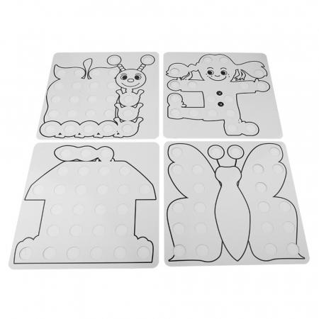 Joc creativ mozaic Genius Art, 24 cartonase, 50 de butoni, Toyska [3]