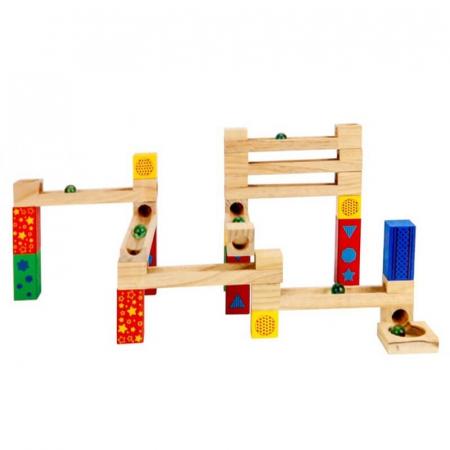 Circuit cu bile din lemn 33 piese [1]