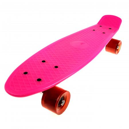 Penny Board cu roti luminoase LED, 55 cm, Roz, Toyska [4]