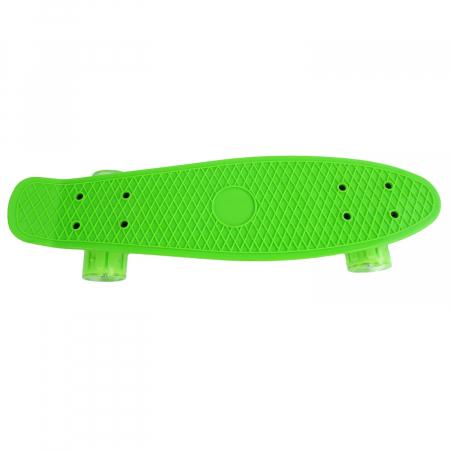 Penny Board cu roti luminoase LED, 55 cm, Verde [1]