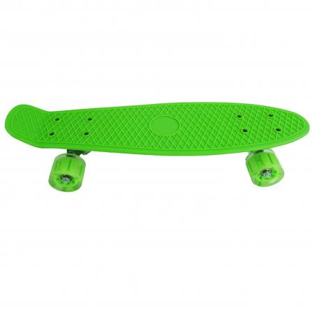 Penny Board cu roti luminoase LED, 55 cm, Verde [0]