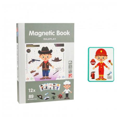 Joc educativ, Carte magnetica, Role Play, Meserii, 101 piese magnetice [0]