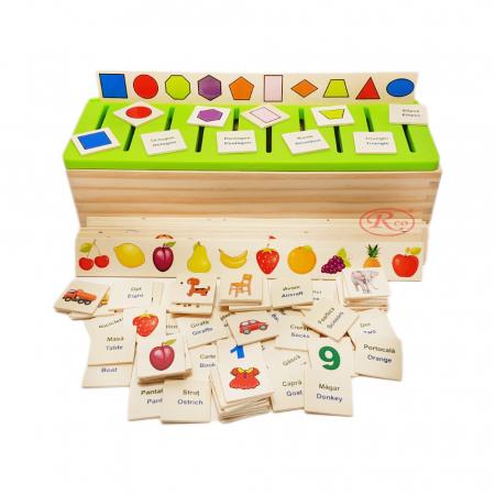 Sortator Montessori cu 88 de piese in limba Romana, multicolor [0]