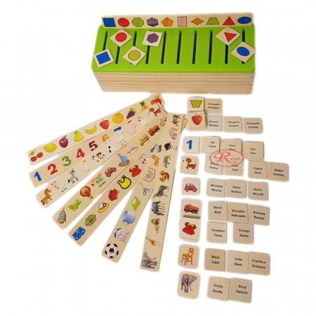 Sortator Montessori cu 88 de piese in limba Romana, multicolor [1]