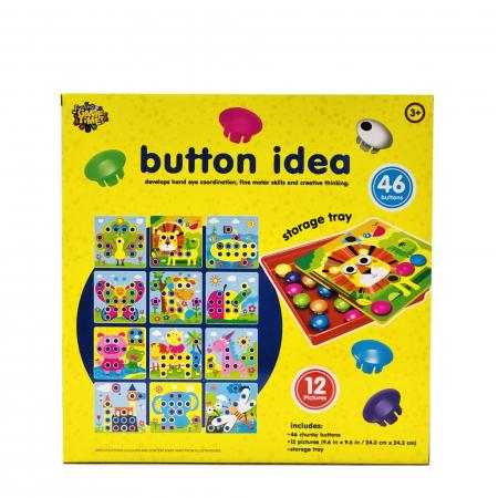 Joc creativ mozaic Button Idea, 12 cartonase, 46 de butoni [2]