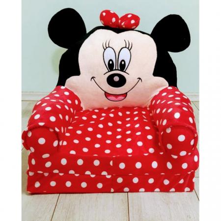 Fotoliu cu intindere pentru copii, Minnie Mouse [1]