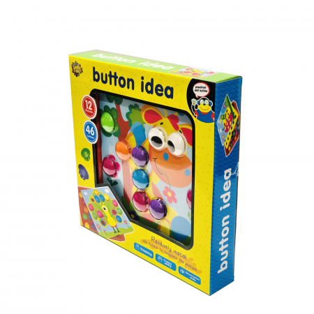 Joc creativ mozaic Button Idea, 12 cartonase, 46 de butoni [1]