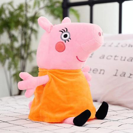 Set 4 jucarii de plus tip breloc Peppa Pig , 15 cm [3]