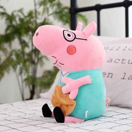 Set 4 jucarii de plus tip breloc Peppa Pig , 15 cm [4]