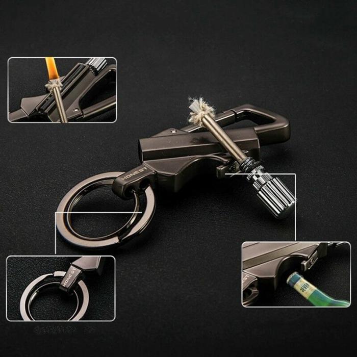 Chibrit metalic premium, cu breloc, desfăcător sticle și carabină [2]
