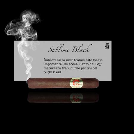 Trabuc premium Sublime Black, marca Santo del Rey [0]