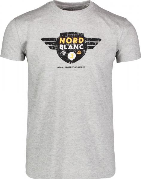 Tricou barbati Nordblanc AVIATION supersoft cotton Dark grey melange 0