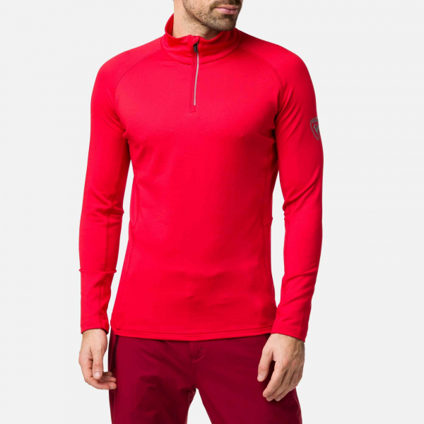 Bluza barbati Rossignol CLASSIQUE 1/2 ZIP Sports red 0