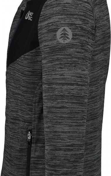Bluza barbati Nordblanc MUTE fleece Graphite melange 3