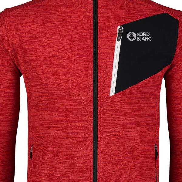Bluza barbati Nordblanc MUTE fleece Powerful red 5