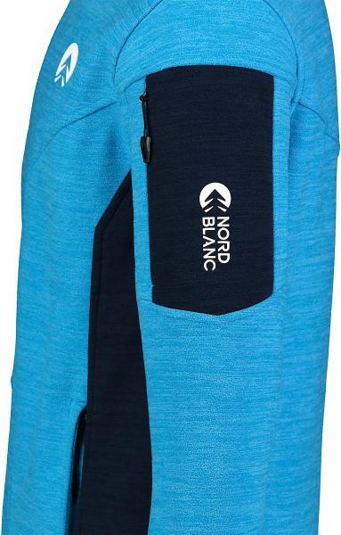 Bluza barbati Nordblanc SILENT fleece Royal blue 3