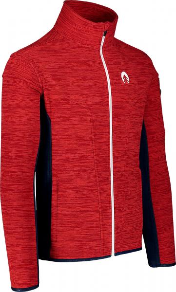 Bluza barbati Nordblanc SILENT fleece Powerful red 1