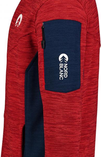 Bluza barbati Nordblanc SILENT fleece Powerful red 3