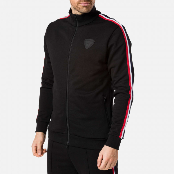 Bluza barbati Rossignol TRACK SUIT SWEAT FZ Black 1