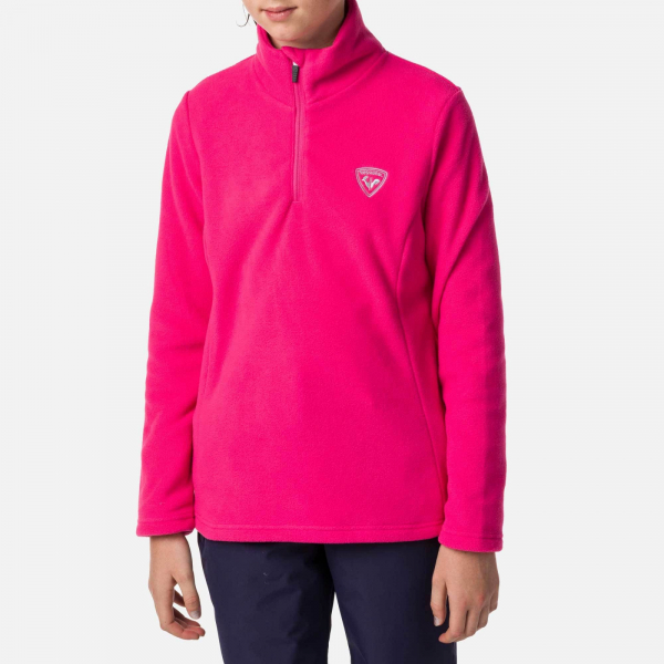 Bluza copii Rossignol GIRL 1/2 ZIP FLEECE Pink fushia 3