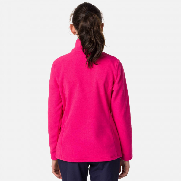 Bluza copii Rossignol GIRL 1/2 ZIP FLEECE Pink fushia 1