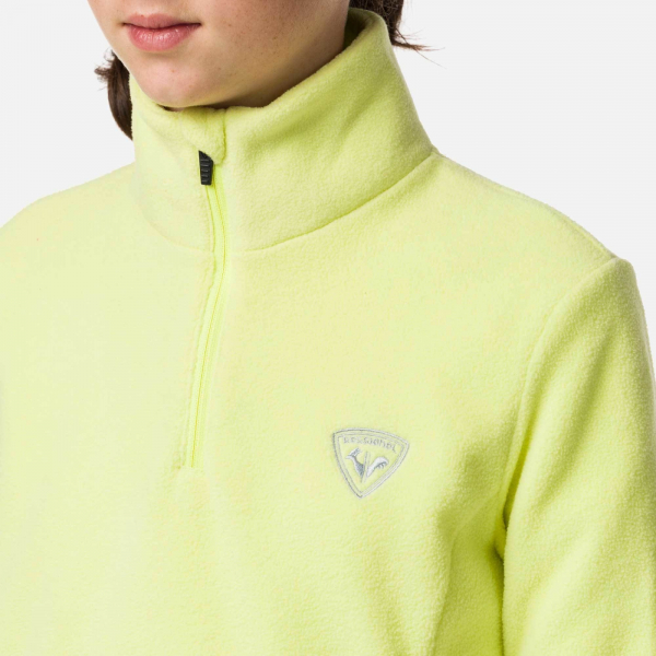 Bluza copii Rossignol GIRL 1/2 ZIP FLEECE Sunny lime 2