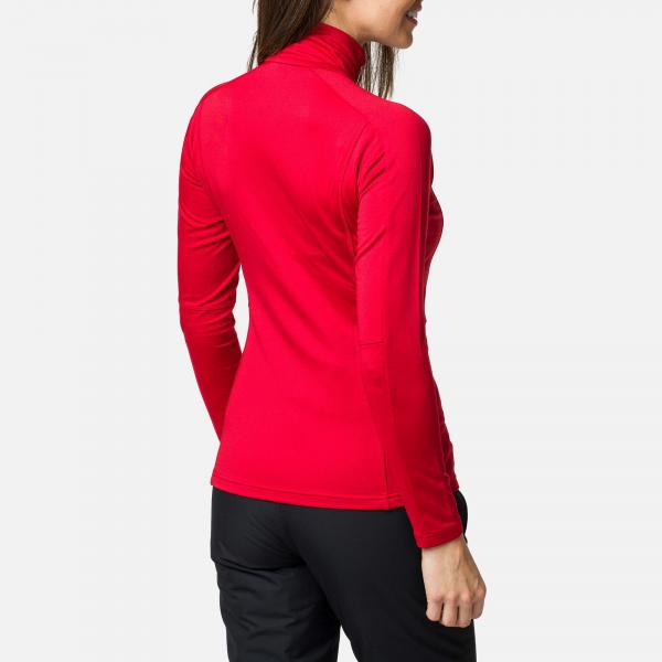 Bluza dama Rossignol W CLASSIQUE 1/2 ZIP Carmin 1