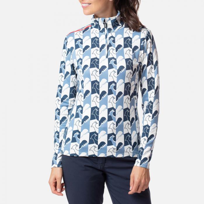 Bluza dama Rossignol W PALMARES 1/2 Zip Lake blue 0
