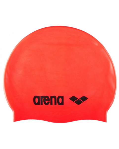 Casca inot Arena CLASSIC Silicone Fluo Red/ Black 0