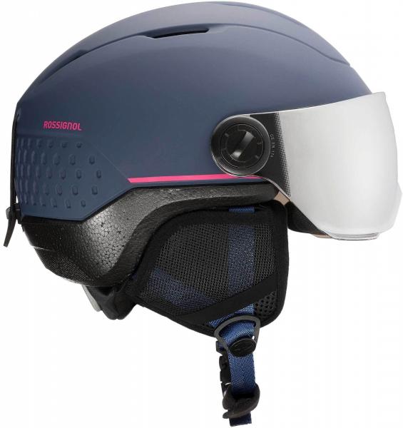 Casca schi copii Rossignol WHOOPEE VISOR IMPACTS Blue / Pink 3